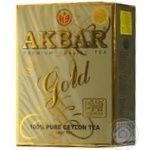Tea Akbar black loose 100g cardboard packaging