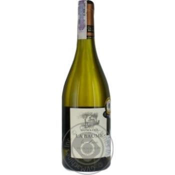 Вино белое Домэн дэ ля Бом Совиньон Блан виноградное натуральное сухое 13% стеклянная бутылка 750мл Франция