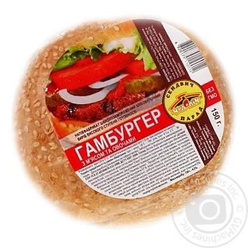 Гамбургер Чудо-печь с мясом и овощами 150г