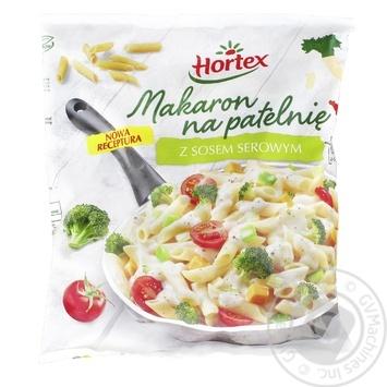 Макарони для смаження Hortex з сирним соусом замороженi 450г - купити, ціни на Ашан - фото 1