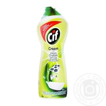 Крем для ванної кімнати Cif Актив Лимон 750л - купить, цены на Novus - фото 2