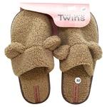 Тапочки домашние Twins Teddi женские меховые р.36/37 коричневый