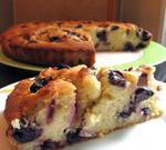 Пирог с виноградом и цитрусовой цедрой