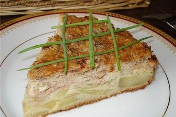 Рибний пиріг із картоплею
