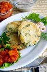 Сырники с картофелем и морской капустой