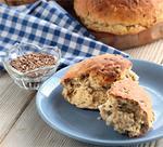 Ржано-пшеничный хлеб с семенами