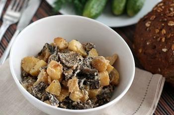 Картофель с грибами по-сибирски