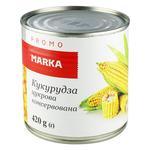 Кукурудза цукрова Marka Promo консервована 420г