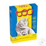Корм для котов Teo с домашней птицей сухой 400г