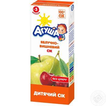 Сік Агуша яблучно-вишневий для дітей з 5 місяців 200мл - купити, ціни на Ашан - фото 1