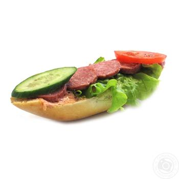 Baguette with sausage weight