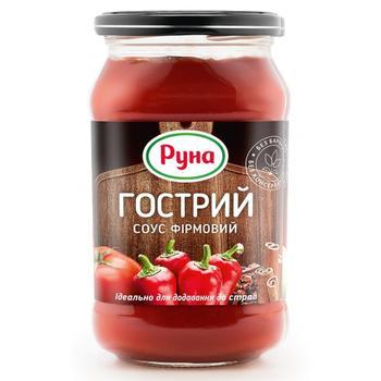 Соус томатний Руна Гострий фірмовий  485г - купити, ціни на Ашан - фото 1