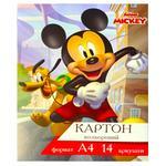 Картон Тетрада Disney А4 цветной 14 цветов
