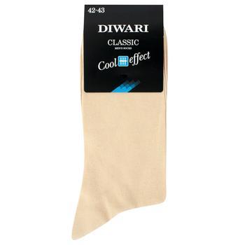 Шкарпетки чоловічі Diwari Classic Cool Effect р.27 000 бежевий 7C-23СП - купити, ціни на Фуршет - фото 1