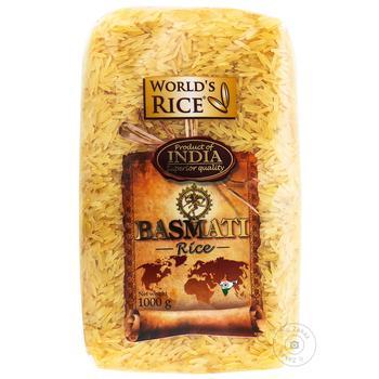 Рис World's Rice басмати Индия 1кг - купить, цены на Novus - фото 1
