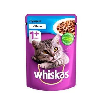 Корм для взрослых котов Whiskas с тунцом в желе 100г - купить, цены на Novus - фото 1