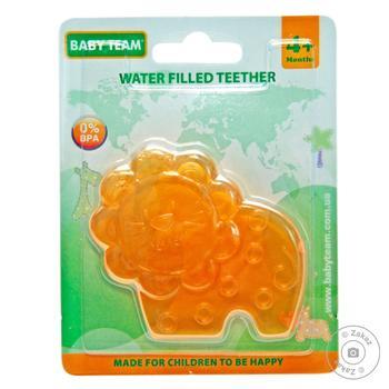 Прорезыватель для зубов Baby Team с водой Звери - купить, цены на Фуршет - фото 1