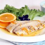 Рыба с апельсинами в фольге