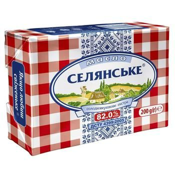 Selianske Sweet Cream Butter 82% 200g
