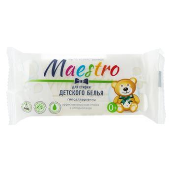 Мыло хозяйственное Maestro для стирки детского белья 125г - купить, цены на Восторг - фото 1