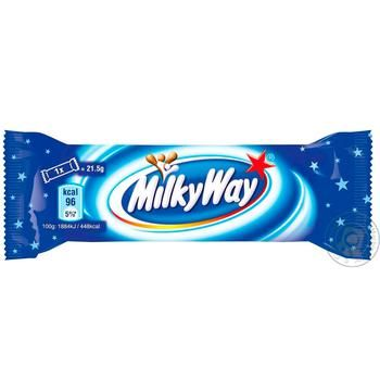 Milky Way Chocolate Bar With Souffle Covered With Milk Chocolate 21,5g - buy, prices for CityMarket - photo 1