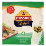 Mission Foods Wraps Tortilla Mediterranean Herbs 4pcs. 245g