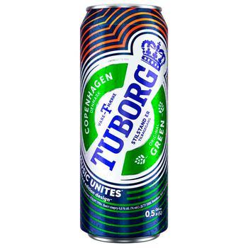 Tuborg Green Light Beer 4,6% 0,5l - buy, prices for CityMarket - photo 1