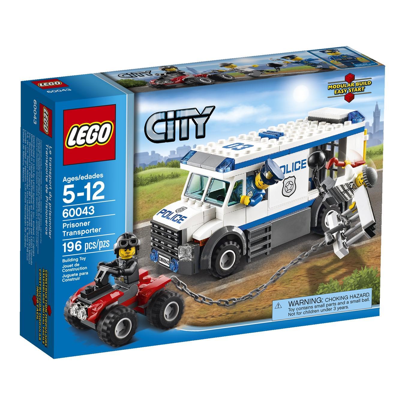 Construction Toy Lego City Police Prisoner Transporter For 5 To 12
