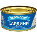 Сардины Аквамарин натуральные з добавлением масла 185г