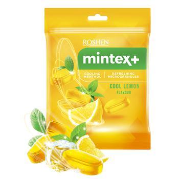 Карамель льодяникова Roshen Mintex+ Cool lemon зі смаком лимона та ментолу 20г