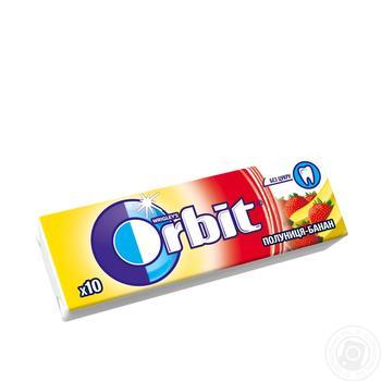 Orbit Wrigley's strawberries-banana chewing gum 14g