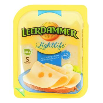 Сир твердий Leerdammer Lightlife 30% 100г - купити, ціни на CітіМаркет - фото 1
