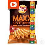 Чипси Lay's Maxx зі смаком шаленої сальси 120г