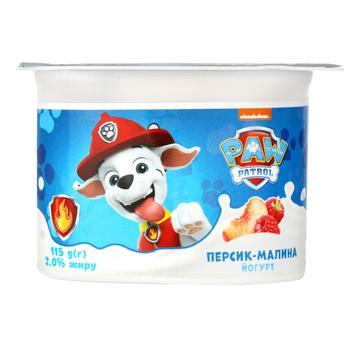 Danone Raspberry-Peach Flavored Yogurt 2% 115g - buy, prices for Auchan - photo 1