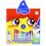 Marco Super Washable Water Color Markers 24 Colors