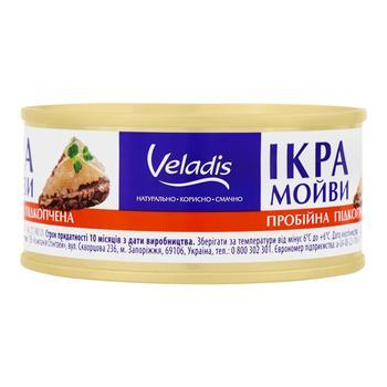 Ікра Мойви Веладіс 100/120 г пробійна - купить, цены на Таврия В - фото 1