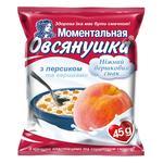 Oatmeal porridge Ovsyanushka with sugar peach and cream quick-cooking 45g