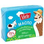 Масло Varto Крестьянское 73% сладкосливочное 200г - купить, цены на Varus - фото 1