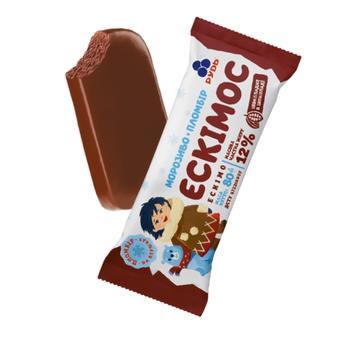 Морозиво Рудь Ескімос шоколадний пломбір-ескімо 80г