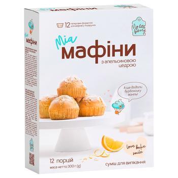 Смесь для выпечки Миа Маффины с апельсиновой цедрой 300г - купить, цены на Novus - фото 1
