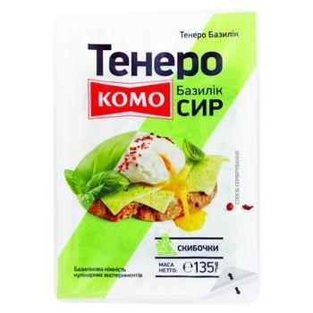 Сыр Комо Тенеро базилик слайс 135г - купить, цены на Фуршет - фото 1