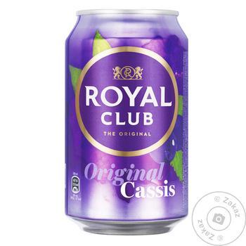 Напиток газированный Royal Club черная смородина 0.33л