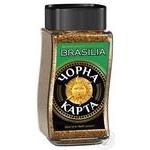 Кофе Чорна Карта Exclusive Brasilia растворимый 95г
