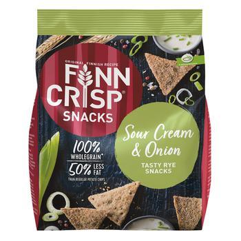 Снек Finn Crisp из цельнозерновой муки со вкусом лука и сметаны 150г - купить, цены на Восторг - фото 1