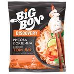 Лапша Big Bon рисовая быстрого приготовления по-тайски с соусом Том Ям 65г