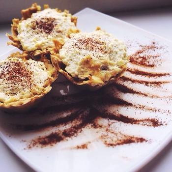Вівсяно-сирні кекси з яблуком