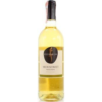Вино Kumala белое полусладкое 12% 0,75л - купить, цены на Novus - фото 1