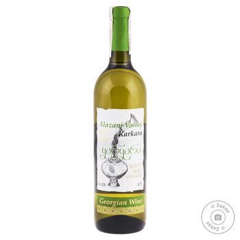 Вино Каркара Алазанська Долина біле напівсолодке 0.75л - купити, ціни на CітіМаркет - фото 1