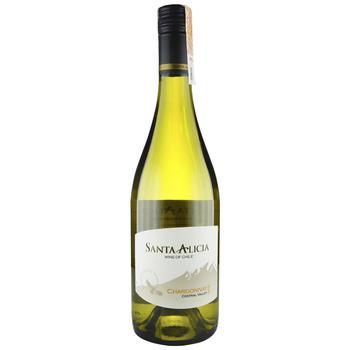 Вино Santa Alicia Chardonnay Central Valley біле сухе 12,5% 0,75л