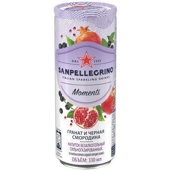 Sanpellegrino Momenti Pomegranate-Black Currant Carbonzted Drink Can 0,33l